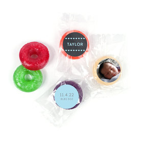 Bonnie Marcus Personalized Photo LifeSavers 5 Flavor Hard Candy Heart Boy Birth Announcement (300 Pack)