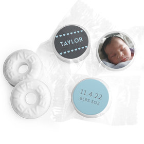 Bonnie Marcus Collection Personalized Photo LIFE SAVERS Mints Heart Boy Birth Announcement