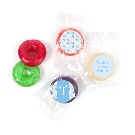 Bonnie Marcus Personalized LifeSavers 5 Flavor Hard Candy Blue Hearts Boy Birth Announcement (300 Pack)