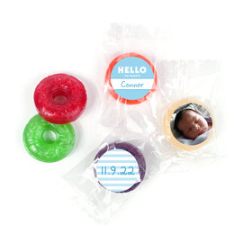 Bonnie Marcus Personalized Photo LifeSavers 5 Flavor Hard Candy Name Tag Boy Birth Announcement (300 Pack)