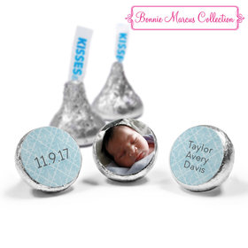 Bonnie Marcus Collection Personalized HERSHEY'S KISSES Candy Photo Birth Announcement (50 Pack)