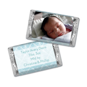 Bonnie Marcus Collection Personalized HERSHEY'S MINIATURES Wrappers Photo Birth Announcement