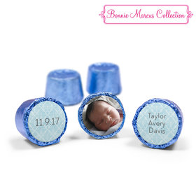 Bonnie Marcus Collection Personalized Blue Rolos Photo Birth Announcement (50 Pack)