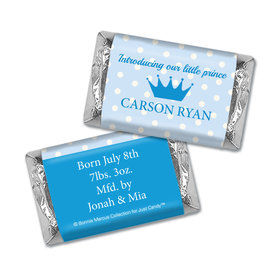 Bonnie Marcus Collection Personalized Chocolate Bar Polka Dots & Crown Birth Announcement