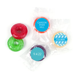 Bonnie Marcus Personalized LifeSavers 5 Flavor Hard Candy It's a Boy Hearts Birth Announcement (300 Pack)