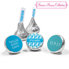 Bonnie Marcus Collection Personalized HERSHEY'S KISSES Candy It's a Boy Hearts Birth Announcement (50 Pack)