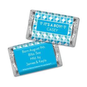 Bonnie Marcus Collection Personalized Chocolate Bar It's a Boy Hearts Birth Announcement