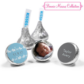 Bonnie Marcus Collection Personalized HERSHEY'S KISSES Candy Animal Parade Birth Announcement (50 Pack)