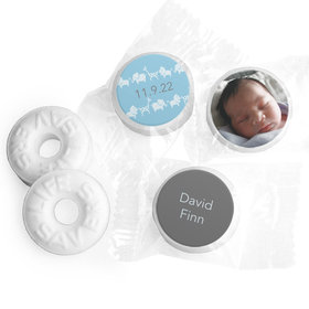 Bonnie Marcus Collection Personalized LIFE SAVERS Mints Animal Parade Birth Announcement