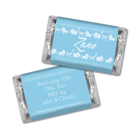 Bonnie Marcus Collection Personalized Chocolate Bar Animal Parade Birth Announcement