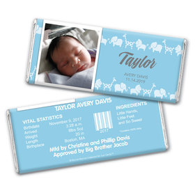 Bonnie Marcus Collection Personalized Wrapper Animal Parade Birth Announcement