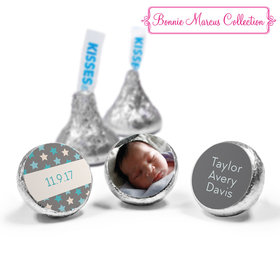 Bonnie Marcus Collection Personalized HERSHEY'S KISSES Candy Star Boy Birth Announcement (50 Pack)