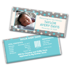 Bonnie Marcus Collection Personalized Chocolate Bar Star Boy Birth Announcement