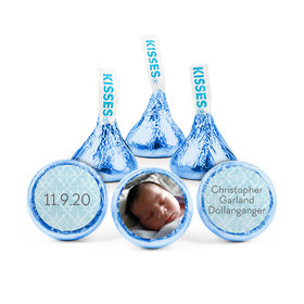 Personalized Boy Birth Announcement Photo Hershey's Kisses (50 pack)