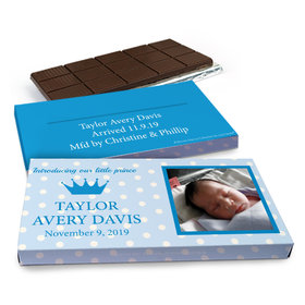 Deluxe Personalized Polka Dots & Crown Chocolate Bar in Gift Box (3oz Bar)