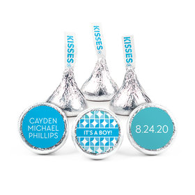 Personalized Boy Birth Announcement It's a Girl Hearts Hershey's Kisses (50 pack)