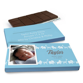 Deluxe Personalized Animal Parade Chocolate Bar in Gift Box (3oz Bar)
