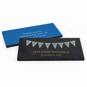 Deluxe Personalized It's a Boy Banner Baby Boy Announcement Candy Bar Favor Box