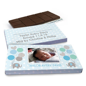 Deluxe Personalized Baby Elephants Chocolate Bar in Gift Box (3oz Bar)