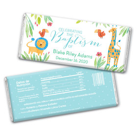 Safari Snuggles Baptism Personalized Candy Bar - Wrapper Only