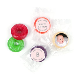 Personalized Bonnie Marcus Filigree and Heart Baptism LifeSavers 5 Flavor Hard Candy (300 Pack)