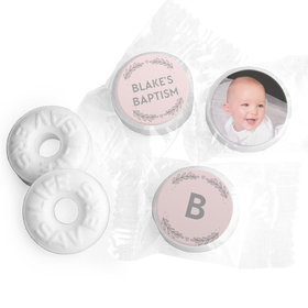 Personalized Bonnie Marcus Filigree and Heart Baptism Life Savers Mints