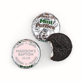 Personalized Bonnie Marcus Filigree and Heart Baptism Pearson's Mint Patties