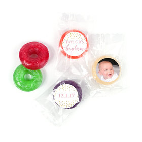 Personalized Bonnie Marcus Confetti Baptism LifeSavers 5 Flavor Hard Candy (300 Pack)