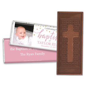 Personalized Bonnie Marcus Confetti Baptism Embossed Chocolate Bar