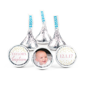 "Personalized Bonnie Marcus Confetti Baptism 3/4"" Stickers (108 Stickers)"