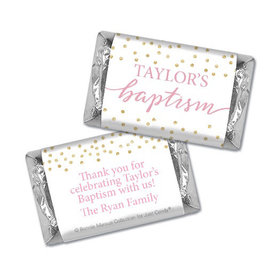 Personalized Bonnie Marcus Confetti Baptism Hershey's Miniatures