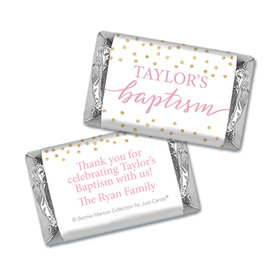 Personalized Bonnie Marcus Confetti Baptism Mini Wrappers Only