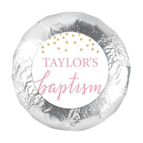 """Personalized Bonnie Marcus Confetti Baptism 1.25"""" Stickers (48 Stickers)"""