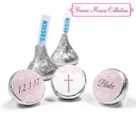 Personalized Bonnie Marcus Floral Filigree Baptism Hershey's Kisses (50 Pack)