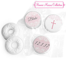 Personalized Bonnie Marcus Floral Filigree Baptism Life Savers Mints