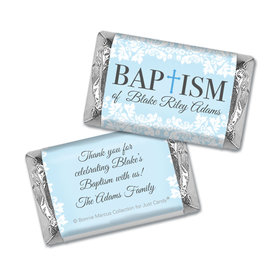 Personalized Bonnie Marcus Floral Filigree Baptism Hershey's Miniatures