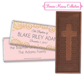 Personalized Bonnie Marcus Scroll Baptism Embossed Chocolate Bar