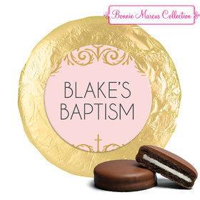 Personalized Bonnie Marcus Scroll Baptism Chocolate Covered Oreos (24 Pack)