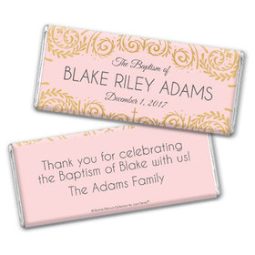 Personalized Bonnie Marcus Scroll Baptism Chocolate Bar & Wrapper