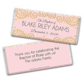 Personalized Bonnie Marcus Scroll Baptism Chocolate Bar Wrappers Only