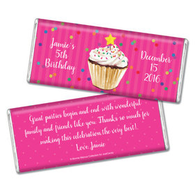 Bonnie Marcus Collection Personalized Chocolate Bar Birthday Wrappers Cupcake Dazzle