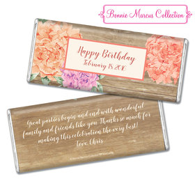 Bonnie Marcus Collection Personalized Chocolate Bar Chocolate and Wrapper Blooming Joy Birthday Party Favor