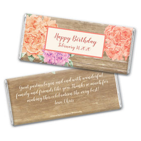 Blooming Joy Birthday Party Favor Personalized Candy Bar - Wrapper Only