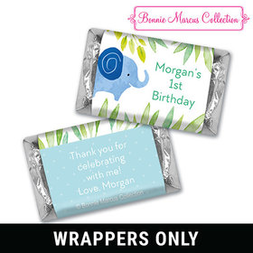 Safari Snuggle Birthday Personalized Miniature Wrappers