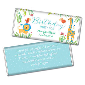 Safari Snuggles Birthday Personalized Candy Bar - Wrapper Only