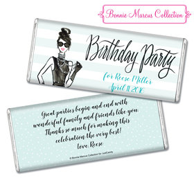 Bonnie Marcus Collection Personalized Chocolate Bar Chocolate & Wrapper In Vogue Birthday