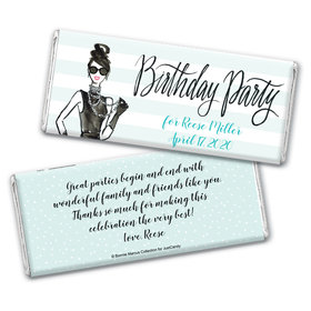 In Vogue Birthday Personalized Candy Bar - Wrapper Only