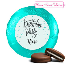 Sunny Soiree Birthday Favors Milk Chocolate Covered Oreo Cookies Assembled