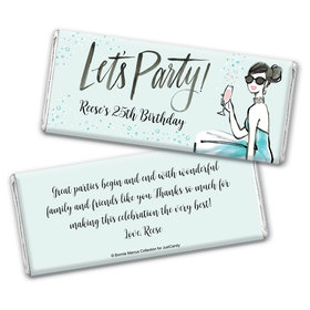 Sunny Soiree Birthday Favors Personalized Candy Bar - Wrapper Only