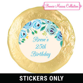 Here's Something Blue Birthday Favors 1.25in Stickerss